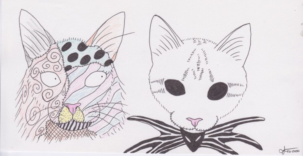 """""""Jack & Sally, A Nightmare Before Catsmas"""" by Jessie T."""