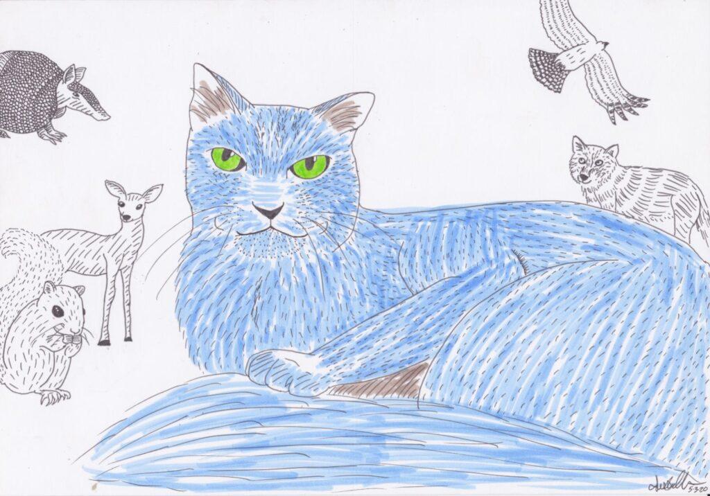 """Cat & Friends"" by Jessie T."