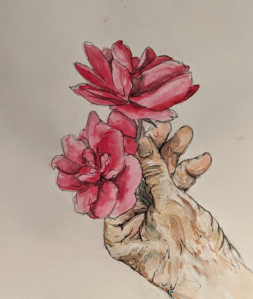 """""""Her Hand Holding Roses"""" by Elizabeth T."""